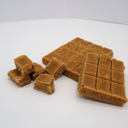 Hebridean Sea Salted Caramel Fudge to buy online from Saltire Candy