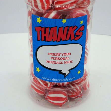 Personalised Jar Thank You Male (Aniseed Balls)