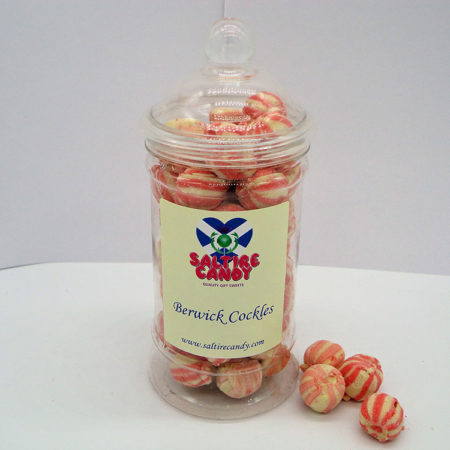Berwick Cockles Sweet Jar available to buy online from Scottish sweet shop Saltire Candy