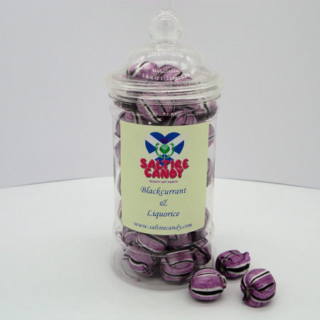 Blackcurrant & Liquorice Sweet Jar available to buy online from Scottish sweet shop Saltire Candy