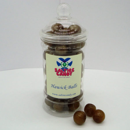 Hawick Balls Sweet Jar available to buy online from Scottish sweet shop Saltire Candy