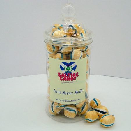 Iron Brew Balls Sweet Jar available to buy online from Scottish sweet shop Saltire Candy