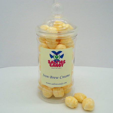 Iron Brew Creams Sweet Jar available to buy online from Scottish sweet shop Saltire Candy