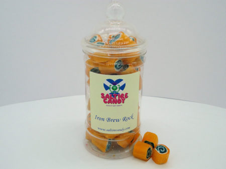 Iron Brew Rock Sweet Jar available to buy online from Scottish sweet shop Saltire Candy