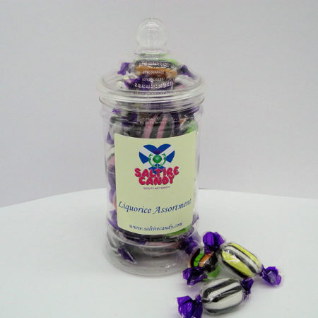 Liquorice Assortment Sweet Jar available to buy online from Scottish sweet shop Saltire Candy