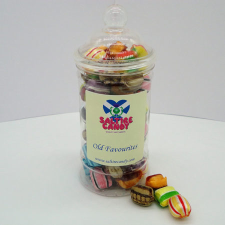 Old Favourites Sweet Jar available to buy online from Scottish sweet shop Saltire Candy