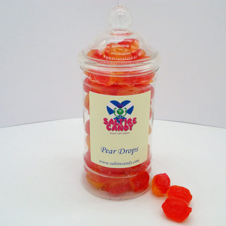 Pear Drops Sweet Jar available to buy online from Scottish sweet shop Saltire Candy