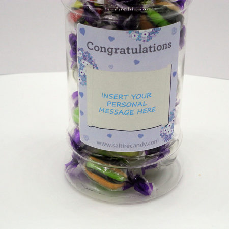 Liquorice Assortment Personalised Sweet Jar available to buy online from Scottish sweet shop Saltire Candy