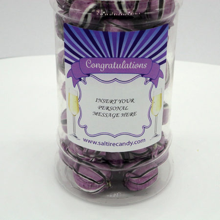 Personalised Jar Congratulations Male (Blackcurrant & Liquorice)
