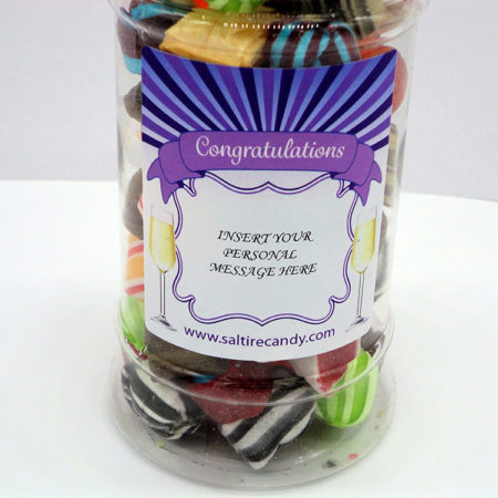 Winter Mixture Personalised Sweet Jar available to buy online from Scottish Sweet Shop