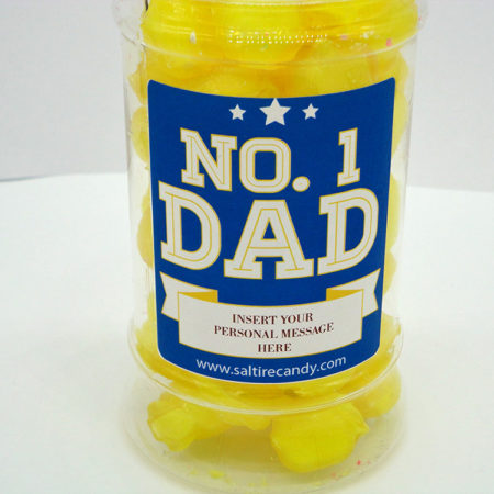Sherbet Lemons Personalised Sweet Jar available to buy online from Scottish sweet shop Saltire Candy