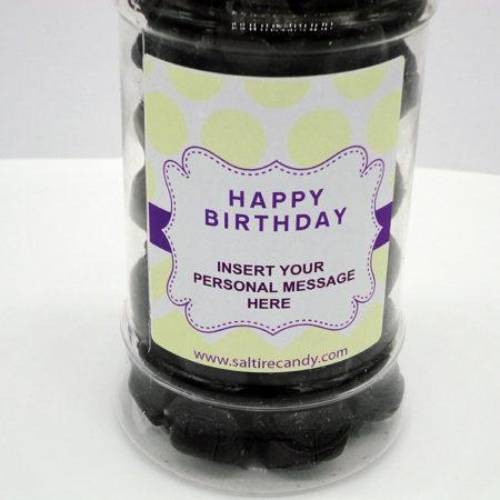Personalised Jar Happy Birthday Female (Cinnamon Balls)
