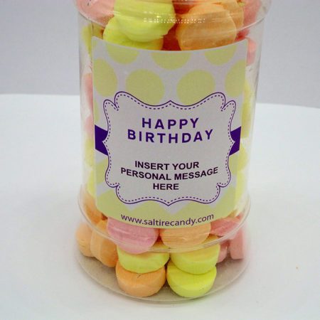 Mixed Oddfellows Personalised Sweet Jar available to buy online from Scottish sweet shop Saltire Candy