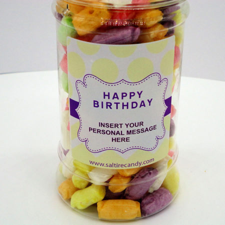 Sherbet Straws Personalised Sweet Jar available to buy online from Scottish sweet shop Saltire Candy