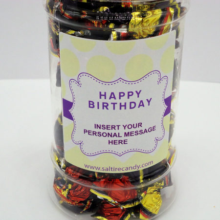 Treacle Toffee Personalised Sweet Jar available to buy online from Scottish sweet shop Saltire Candy