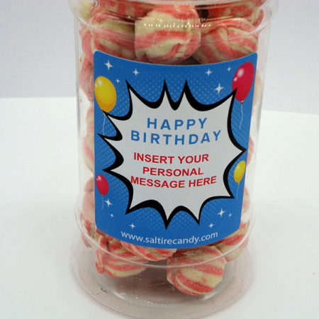 Personalised Jar Happy Birthday Male (Berwick Cockles)
