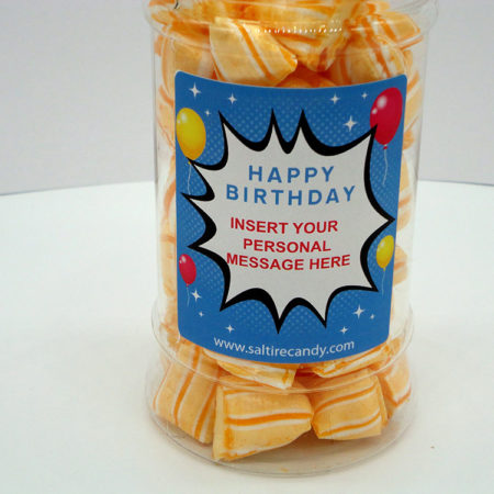 Iron Brew Humbugs Personalised Sweet Jar available to buy online from Scottish sweet shop Saltire Candy