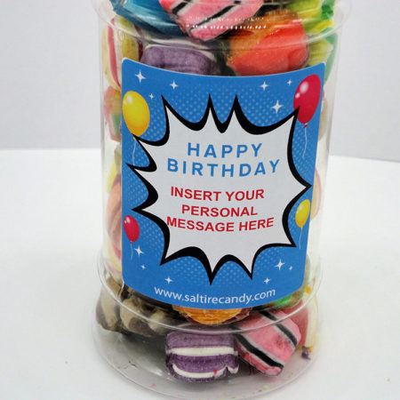 Old Favourites Personalised Sweet Jar available to buy online from Scottish sweet shop Saltire Candy
