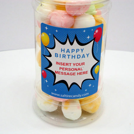 Summer Fruit Creams Personalised Sweet Jar available to buy online from Scottish sweet shop Saltire Candy