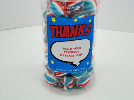 Ibrox Balls Personalised Sweet Jar available to buy online from Scottish sweet shop Saltire Candy