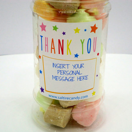 Edinburgh Rock Personalised Sweet Jar available to buy online from Scottish sweet shop Saltire Candy