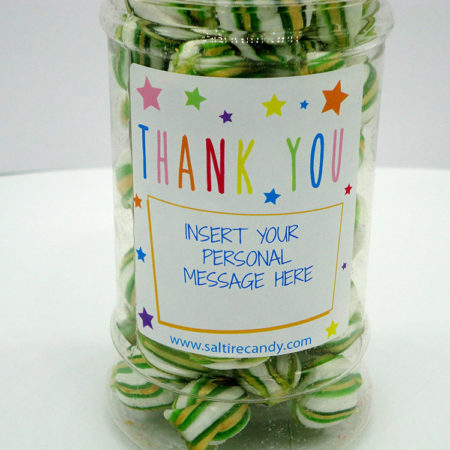 Parkhead Balls Personalised Sweet Jar available to buy online from Scottish sweet shop Saltire Candy