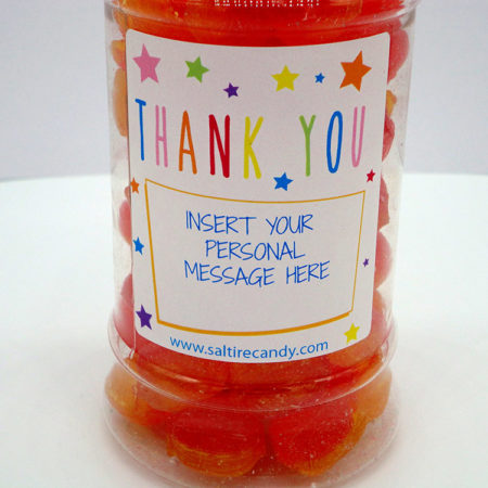 Pear Drops Personalised Sweet Jar available to buy online from Scottish sweet shop Saltire Candy