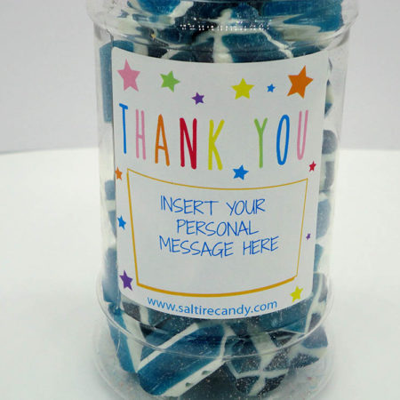 Saltire Rock Personalised Sweet Jar available to buy online from Scottish sweet shop Saltire Candy