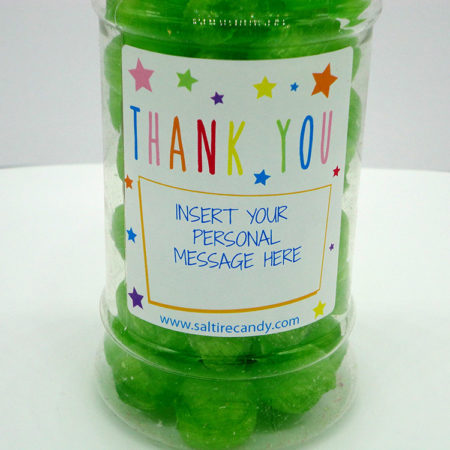 Soor Plooms Personalised Sweet Jar available to buy online from Scottish sweet shop Saltire Candy