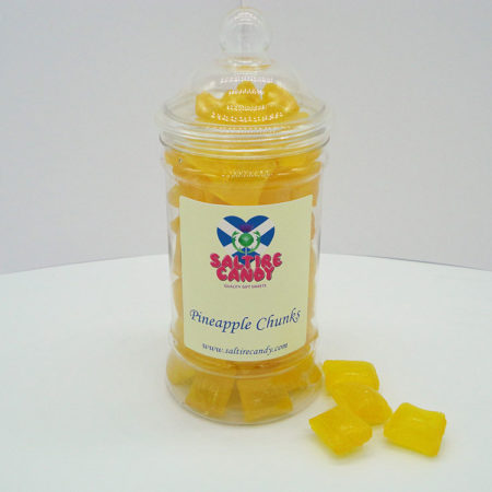 Pineapple Chunks Sweet Jar available to buy online from Scottish sweet shop Saltire Candy
