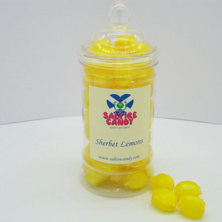 Sherbet Lemons Sweet Jar available to buy online from Scottish sweet shop Saltire Candy