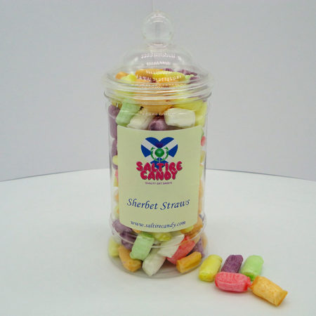 Sherbet Straws Sweet Jar available to buy online from Scottish sweet shop Saltire Candy