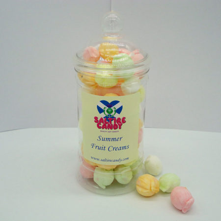 Summer Fruit Creams Sweet Jar available to buy online from Scottish sweet shop Saltire Candy