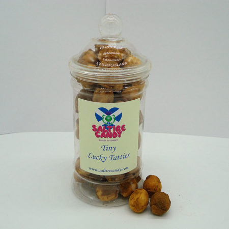 Tiny Lucky Tatties Sweet Jar available to buy online from Scottish sweet shop