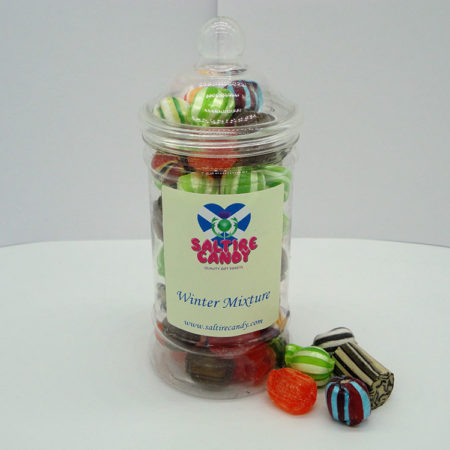 Winter Mixture Sweet Jar available to buy online from Scottish sweet shop Saltire Candy