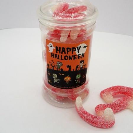 Dracula Teeth Halloween Sweet Jar