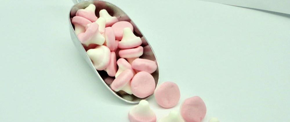 Mushrooms sweets and Foam Mushrooms to buy online from Saltire Candy