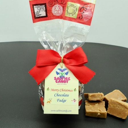 Chocolate Fudge Santa Christmas Gift Bag