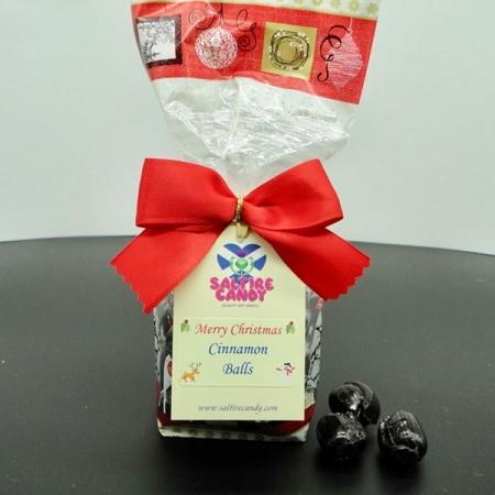 Cinnamon Balls Santa Christmas Gift Bag