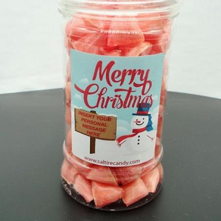 Cosmopolitan Cocktail Humbugs Personalised Christmas Jar