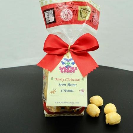 Iron Brew Creams Christmas Santa Gift Bag
