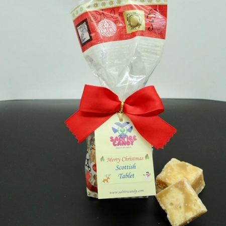 Scottish Tablet Santa Christmas Gift Bag