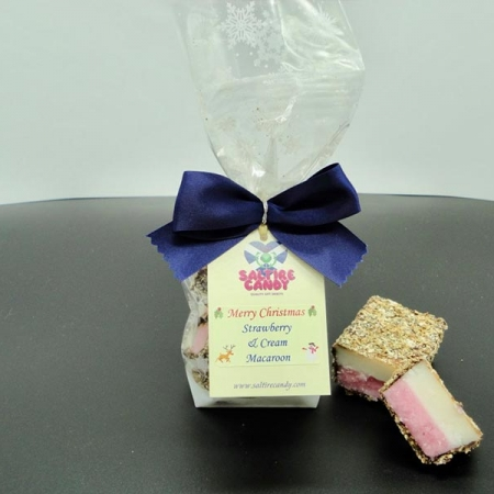 Strawberry and Cream Macaroon Snowflake Christmas Gift Bag