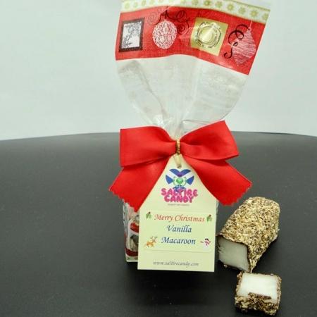 Vanilla Macaroon Santa Christmas Gift Bag