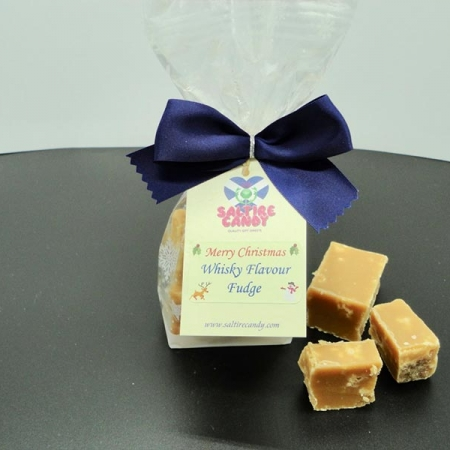 Whisky Flavoured Fudge Snowflake Christmas Gift Bag