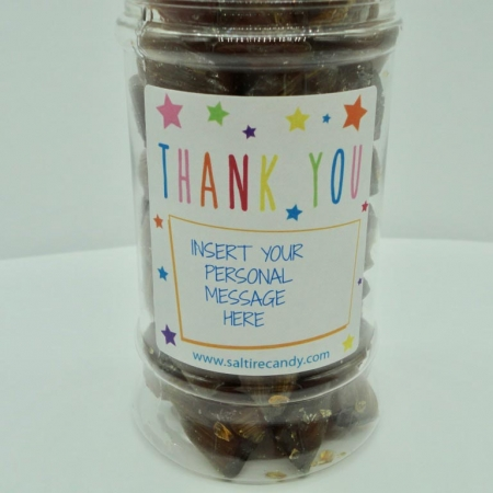 Toffee Doodles Personalised Sweet Jar available to buy online from Scottish sweet shop Saltire Candy