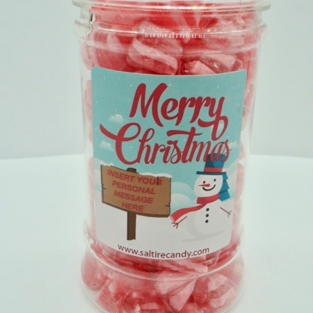 Strawberry Daiquiri Humbugs Personalised Sweet Jar available to buy online from Scottish sweet shop Saltire Candy